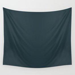 Sherwin Williams Trending Colors of 2019 Dark Night (Dark Aqua Blue) SW 6237 Solid Color Wall Tapestry