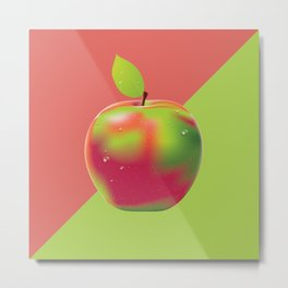 Red green apple Metal Print
