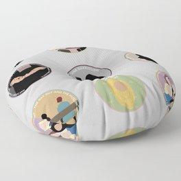 SANA BAKKOUSH: A MINIMALIST STORY Floor Pillow