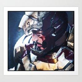 Iron Man Digital Painting  Art Print