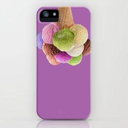 Ice Cream Interior Design Food Poster Minimal Art Print Lavender Home Decoration iPhone Case