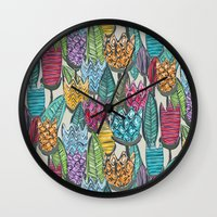 tulips Wall Clocks featuring tulips by Sharon Turner