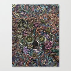 Sensory Overload Skull in Pastels Canvas Print