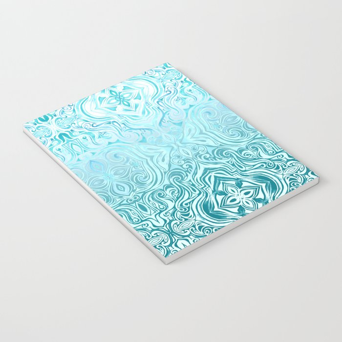 Twists & Turns in Turquoise & Teal Notebook