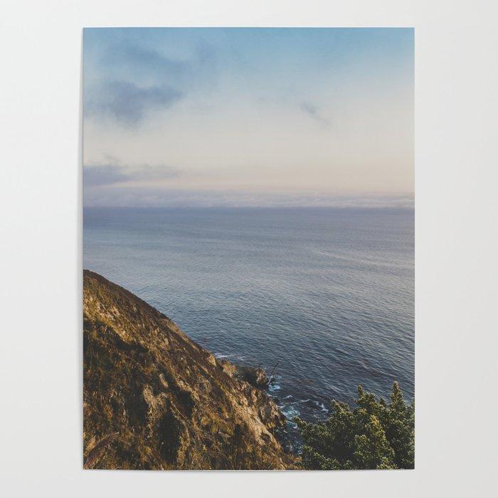 Ocean Side Sunset Poster