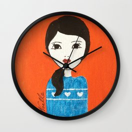 Blue Sweater Wall Clock