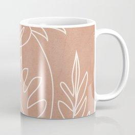 Engraved Plant Line Coffee Mug