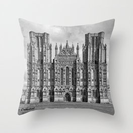 Wells Cathedral, UK Throw Pillow