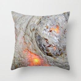 Flaming Seashell 3 Throw Pillow