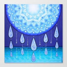 Blue Moonlight Sonata, Mandala artwork by Soozie Wray Canvas Print