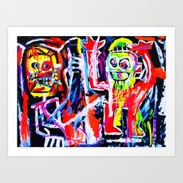 Basquiat's Dustheads Art Print