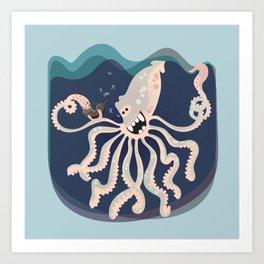 Year of the Kraken Art Print