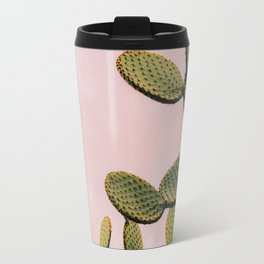 Cactus on Pink Sky Travel Mug