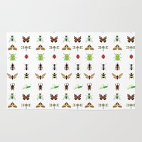 insects Area & Throw Rugs featuring insects by Alysha Dawn