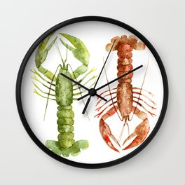 Colorful Lobsters Wall Clock