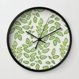 GREEN LEAFLETS Wall Clock