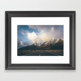 Sunrise Road Framed Art Print