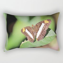 Butterfly brown on leaf Rectangular Pillow