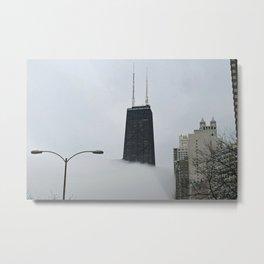 John Hancock Center in the Fog Metal Print