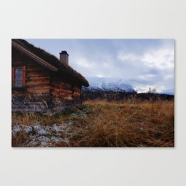Vettismorki mountain farm Canvas Print