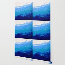 High Tide Blue Turquoise Water Fluid Abstract Wallpaper