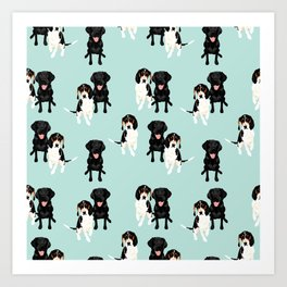 Jasper and Bella Pattern Art Print