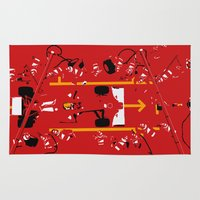 f1 Area & Throw Rugs featuring PIT STOP by MATT WARING