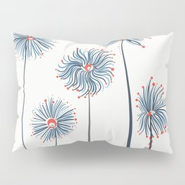 Five Fuzzy Flowers Pillow Sham