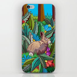 The rabbit of the woods iPhone Skin