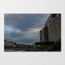 Cargil Grain Elevators and Train Junction Canvas Print