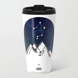 Astrology Libra Zodiac Horoscope Constellation Star Sign Watercolor Poster Wall Art Travel Mug