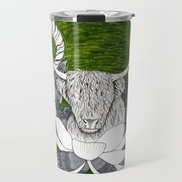 Livestock in Lotus flowers Travel Mug
