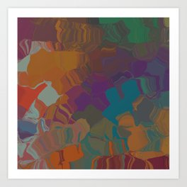 Abstract Subdued Colors Art Print