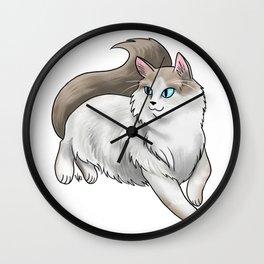 Ragdoll Cat Wall Clock