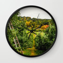 New England Apple Orchard Wall Clock