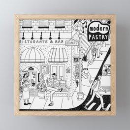 North End, Boston Framed Mini Art Print