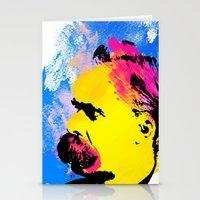 nietzsche Stationery Cards featuring Friedrich Wilhelm Nietzsche by DIVIDUS