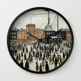 Going To Work L.S Lowry Wall Clock