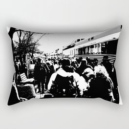 ALL ABOARD! Waiting to get on the Train! Rectangular Pillow