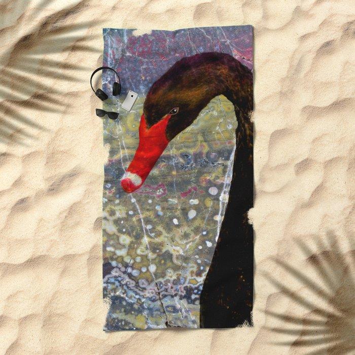 Black Swan Beach Towel