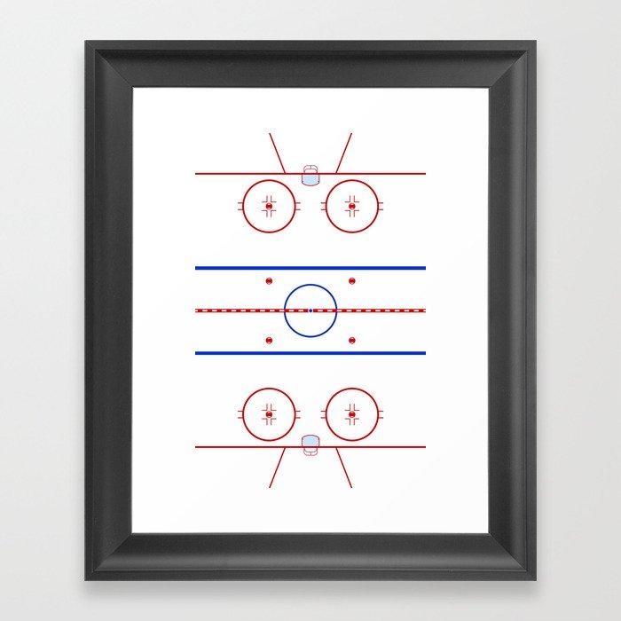 Ice Hockey Rink Diagram Framed Art Print by waywardtees ...