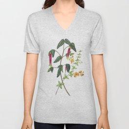 Vintage Botanical Hot Peppers Unisex V-Neck
