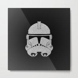 Trooper Grey Glittered Metal Print
