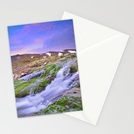 mountain river at 3000 meters high  Stationery Cards