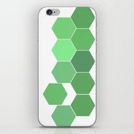 """Hexagon """"die grünen Waben"""" iPhone Skin"""
