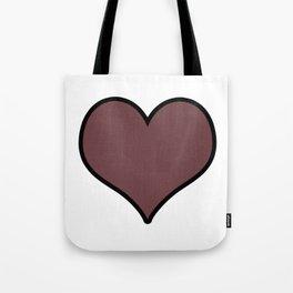 Pantone Red Pear Heart Shape with Black Border Digital Illustration, Minimal Art Tote Bag