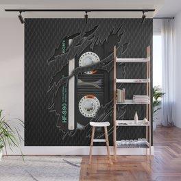 Black Retro Cassette tape Wall Mural