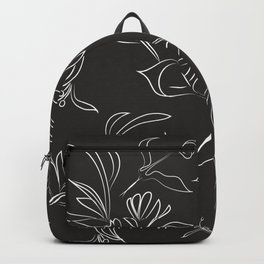 Hand Drawn Floral Backpack