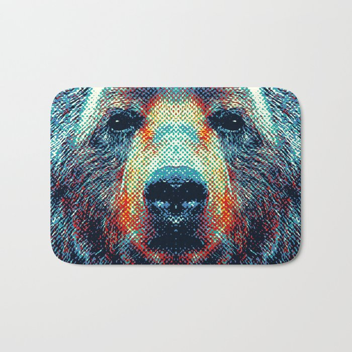 Bear - Colorful Animals Bath Mat