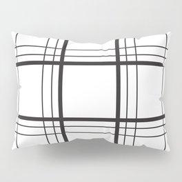 Checkered black and white classic pattern Pillow Sham